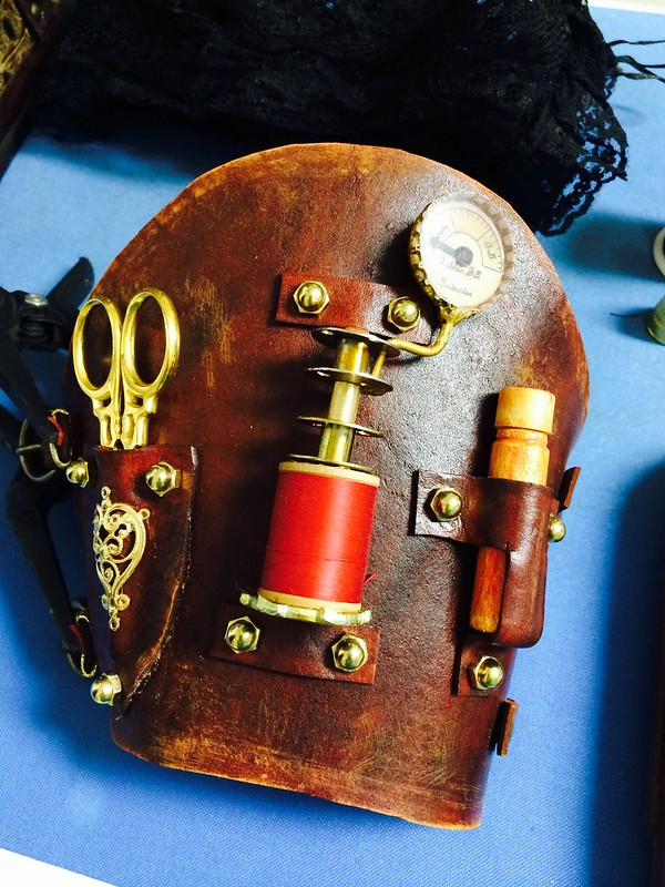 Steampunk seamstress cuff