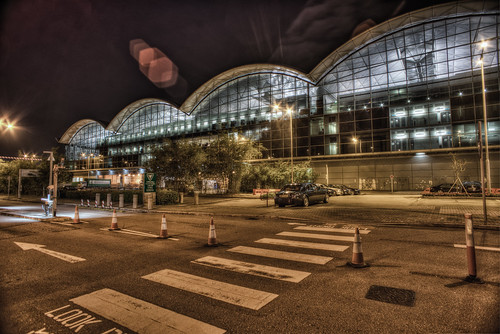 Night Scene in Hong Kong International Airport, Lantau Island, Hong Kong / 香港國際機場