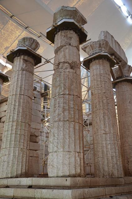 The Temple of Apollo Epikourios at Bassae, south-east corner, Arcadia, Greece
