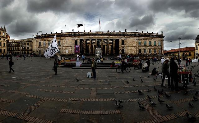 The Plaza de Bolívar.