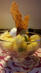 Tangy Pineapple and Frozen Yoghurt