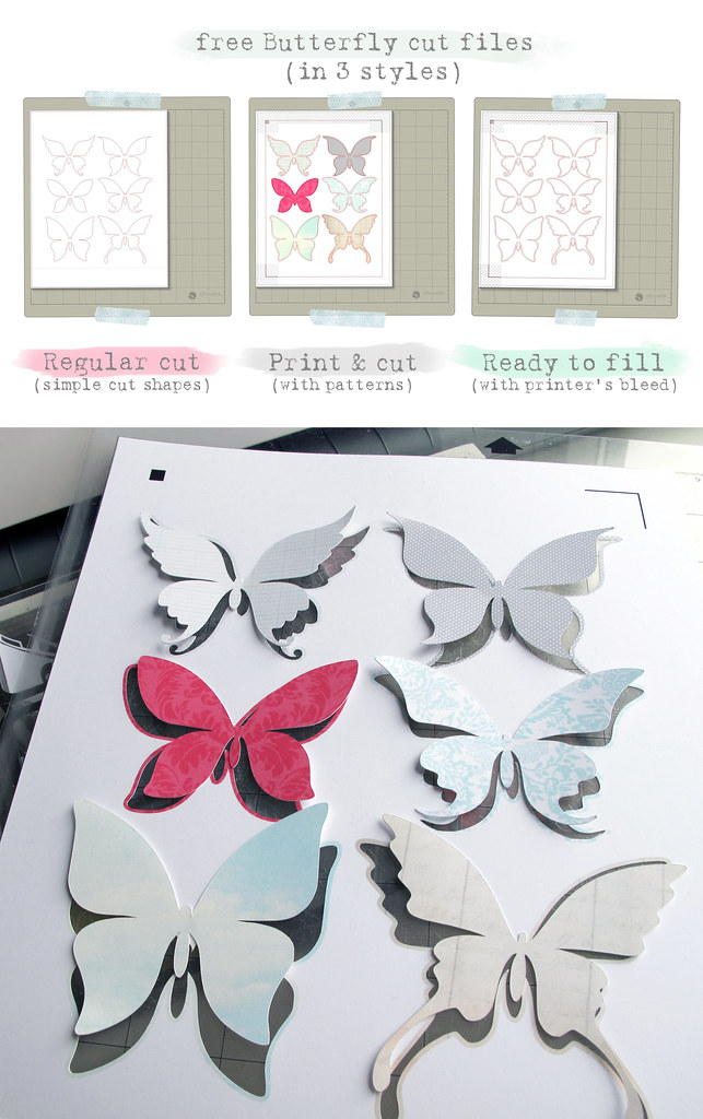 free Butterfly Silhouette Studio cut  