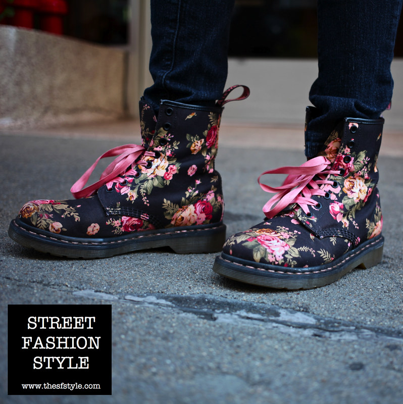 doc martens, boots, floral print, floral print doc martens, thesfstyle, sfstyle, san francisco fashion blog, street fashion style,