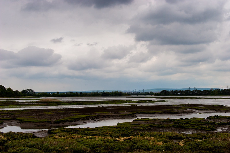 View across Upton Lake to Poole