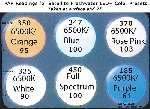 Satellite LED PAR Readings - Color-Presets