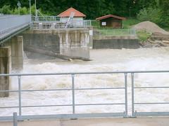 Trostberg-Hochwasser Alz-Juni 2013-Wehrbau