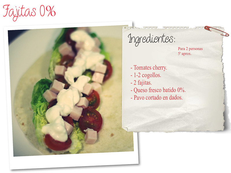 Receta: Fajitas light