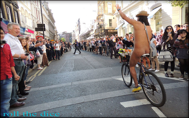 Naked Bike Ride London`2013