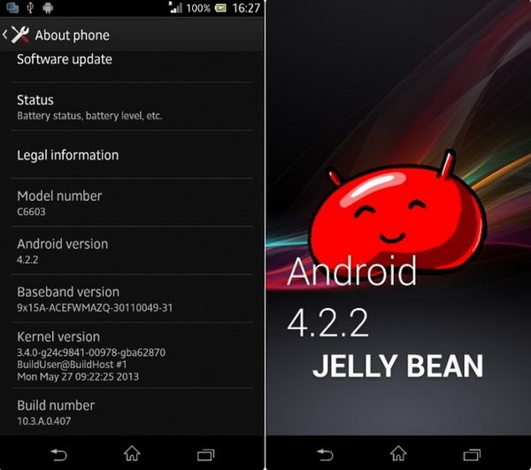 Android 4.2.2 для Xperia Z