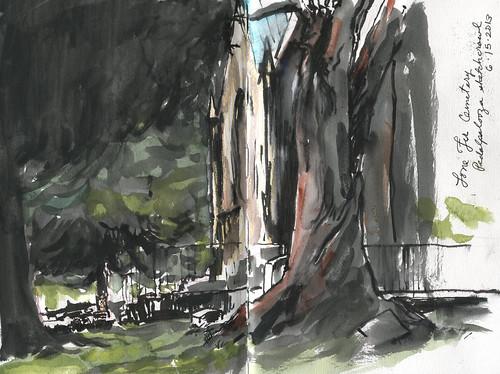 Sketchcrawl/Pedalpalooza - Lone Fir Cemetery