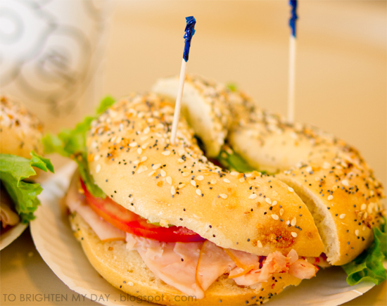 Bodo's Bagels' smoked turkey on an everything bagel