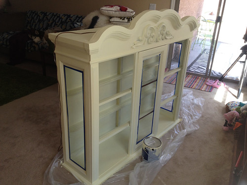 Painting Cabinet by Heather Says