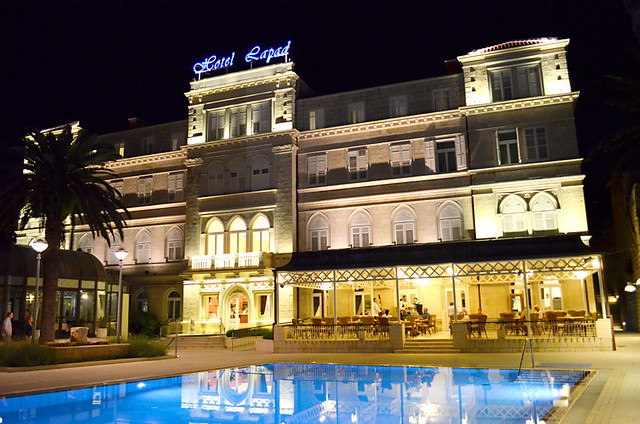 Hotel Lapad after dark, Dubrovnik