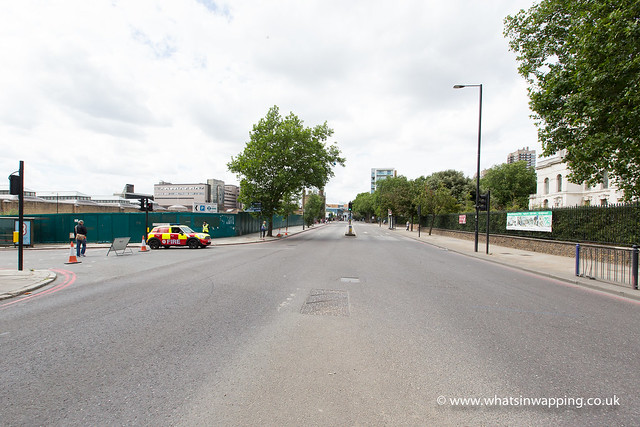 The Highway in Wapping is closed for Ride London London-Surrey Classic