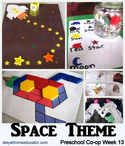 Preschool Co-op Space Theme (Photo from Stay at Home Educator)