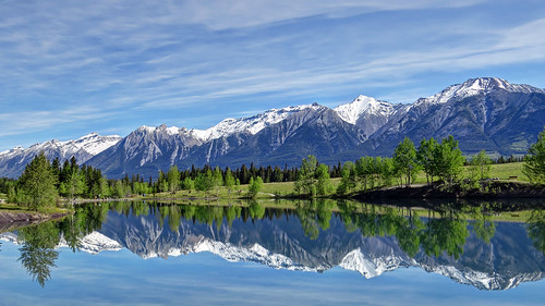lake reflection landscape scenic alberta canmore hdr tonemapping photomatrix scenicsnotjustlandscapes nancychow canonpowershotsx50hs quarrielake