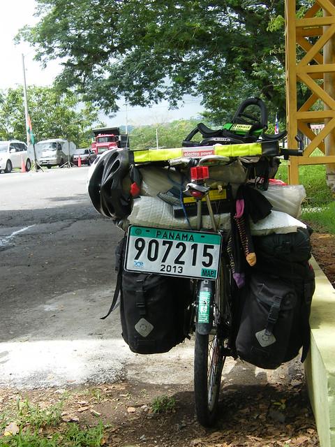 Panama Numberplate on Bike