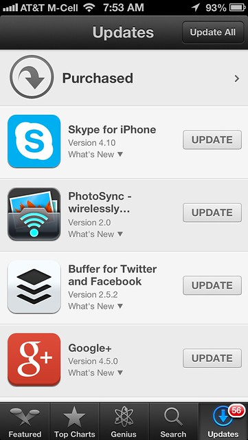 56 Updates Available for my iPhone