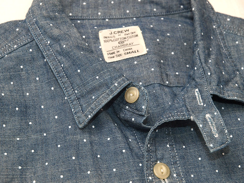 J.Crew / Dot Chambray Workshirt