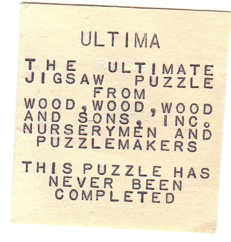 """Ultima""--the ultimate jigsaw puzzle"