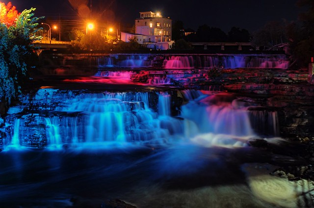Night view of Almonte Falls - summer 2013