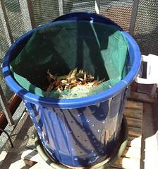 Compostiera sul balcone