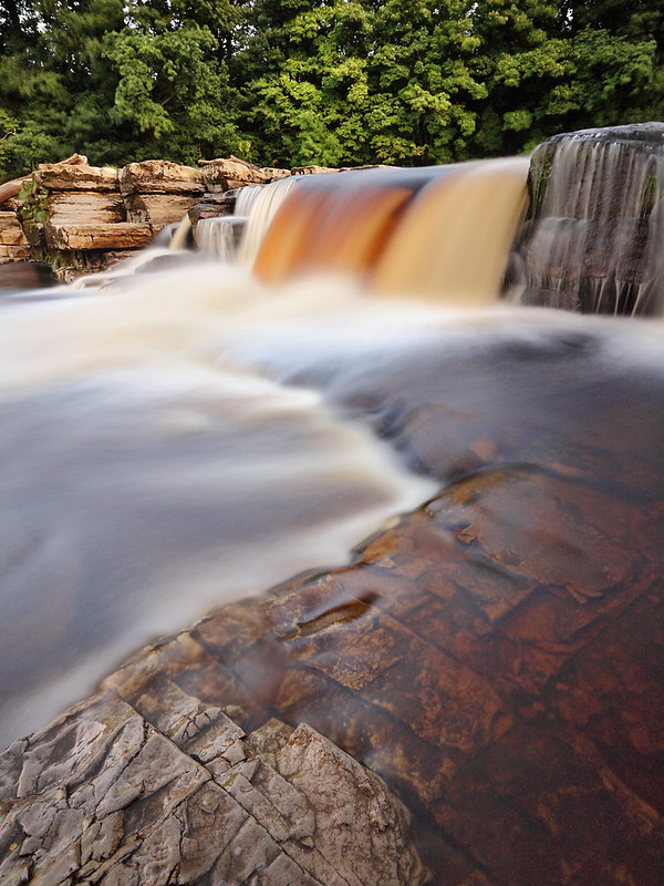 The waterfall on the Swale in Richmond, North Yorkshire.