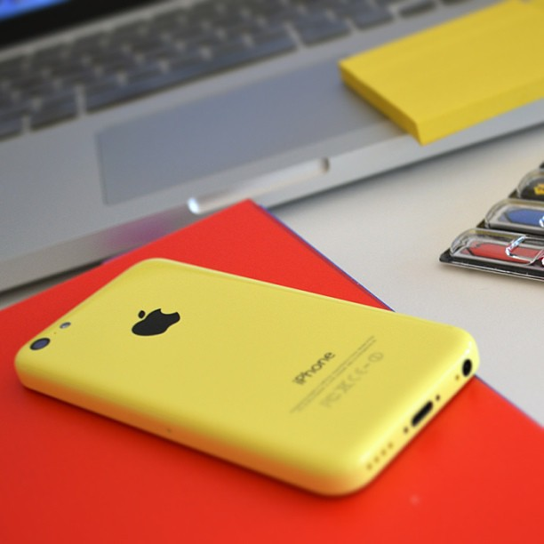 Got iPhone5c. It's yellow and so pretty, but I'm a bit sad to say good bye to my dying iPhone3. #iphone5 #iphone5c #apple #cell #phone