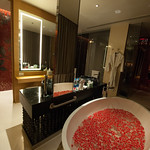 And rose petals in our tub..I'm in heaven.