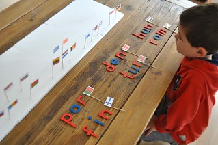 Flags and Beginning Letters Europe