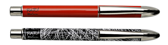 Rajo Ballpens Squiggle and Red