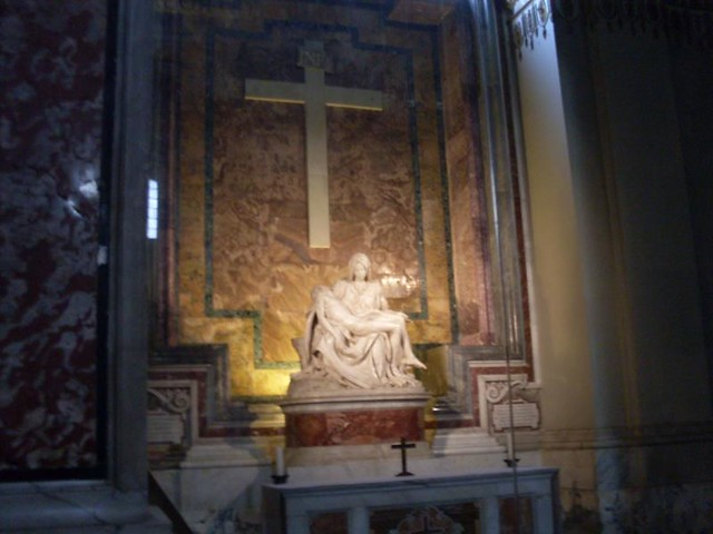 La piedad, escultura de Miguel Angel