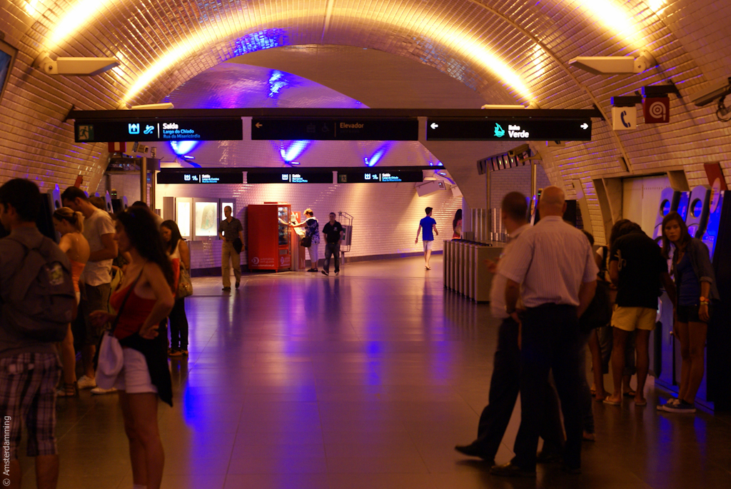 Lisbon, Baixa-Chiado Metro Station