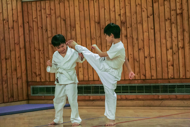 kids training karate