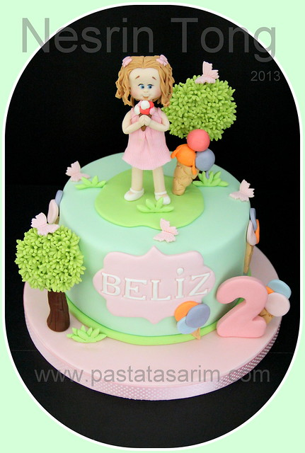 2nd birthday cake - beliz and icecream