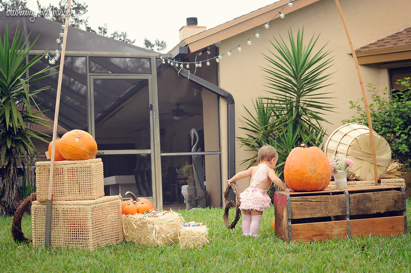 rustic pumpkin patch birthday party