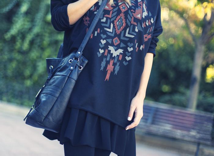 street style barbara crespo ethnic oversize sheinside sweatshirt fashion blogger outfit