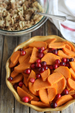 Sweet Potato-Cranberry Crisp