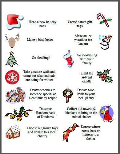 100 Activities for your Advent Calendar with Free Printables (Photo from Edventures with Kids)