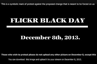 FLICKR BLACK DAY