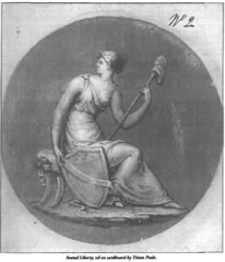 Seated Liberty drawing by Peale