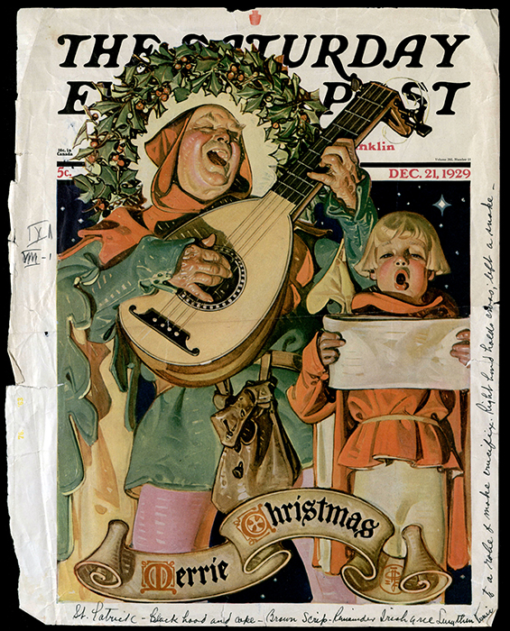 A 1929 Saturday Evening Post, which Russell used for costume ideas