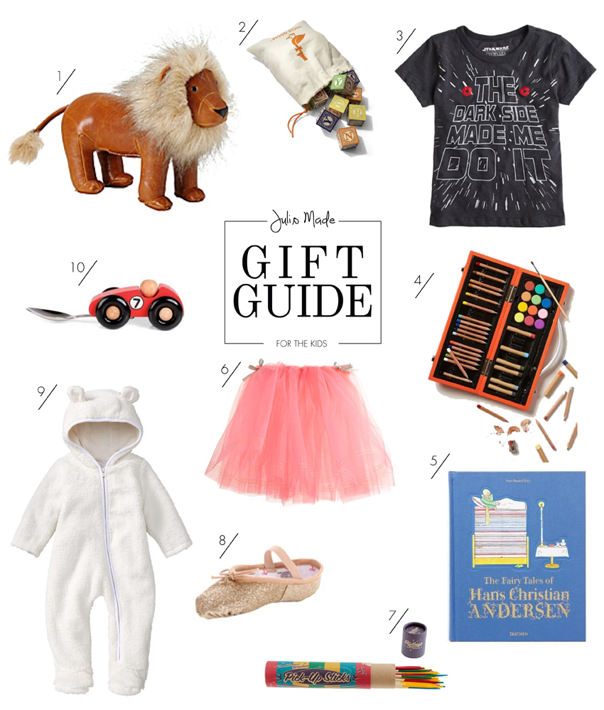 Julip Made 2013 holiday gift guide for the kids
