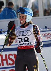 Marie-Michele is all smiles following a 6th place finish in the super-G in St. Moritz, SUI