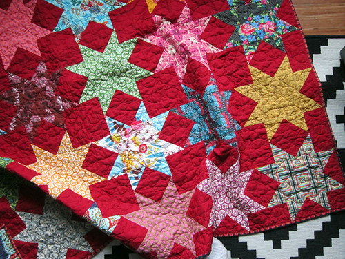 Red Red Stars quilt