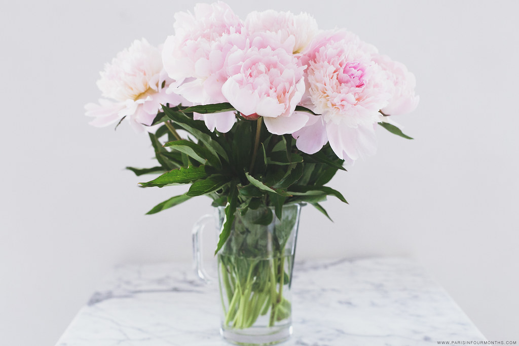 Pink Peonies, photo by Carin Olsson of Paris in Four Months