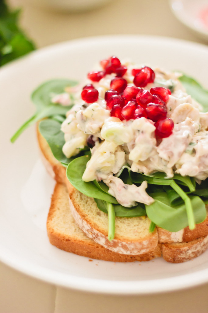 {herbed chicken salad with pomegranate}