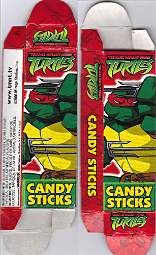 WORLD Confections :: COMIX MIX CANDY STICKS vi / ..'Raphael' box  (( 2008 ))