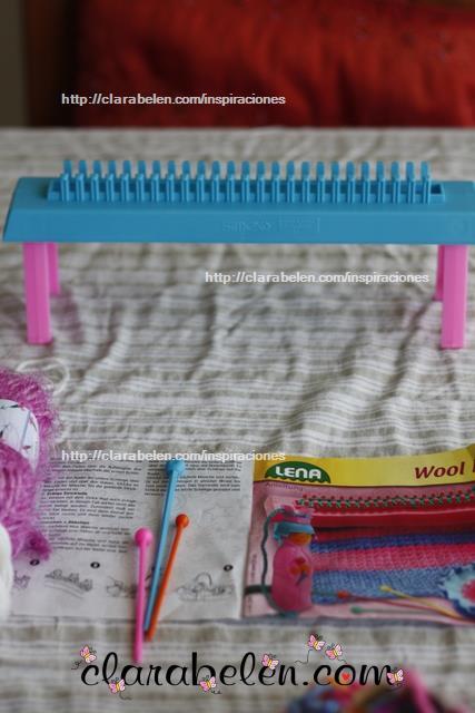Como hacer una tejedora para niños con goma eva