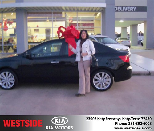Happy Anniversary to Sue Straughan on your 2013 #Kia #Forte from Gilbert Guzman  and everyone at Westside Kia! #Anniversary by Westside KIA